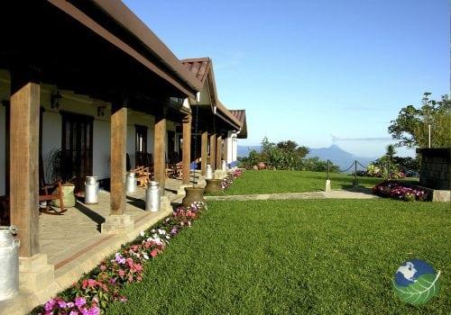 Villa Blanca Cloud Forest hotel Porch View