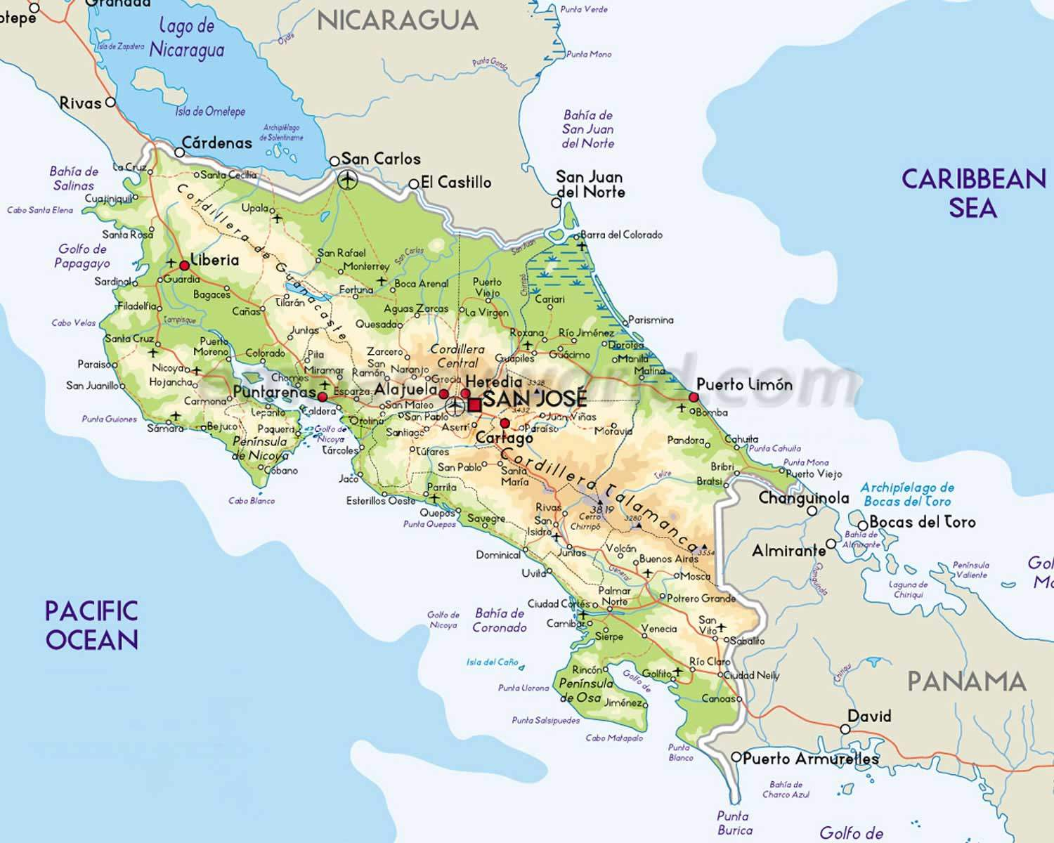 Costa Rica Maps - Every Map You Need for Your Trip to Costa Rica