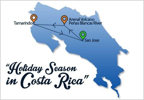 Holiday Season Costa Rica Map