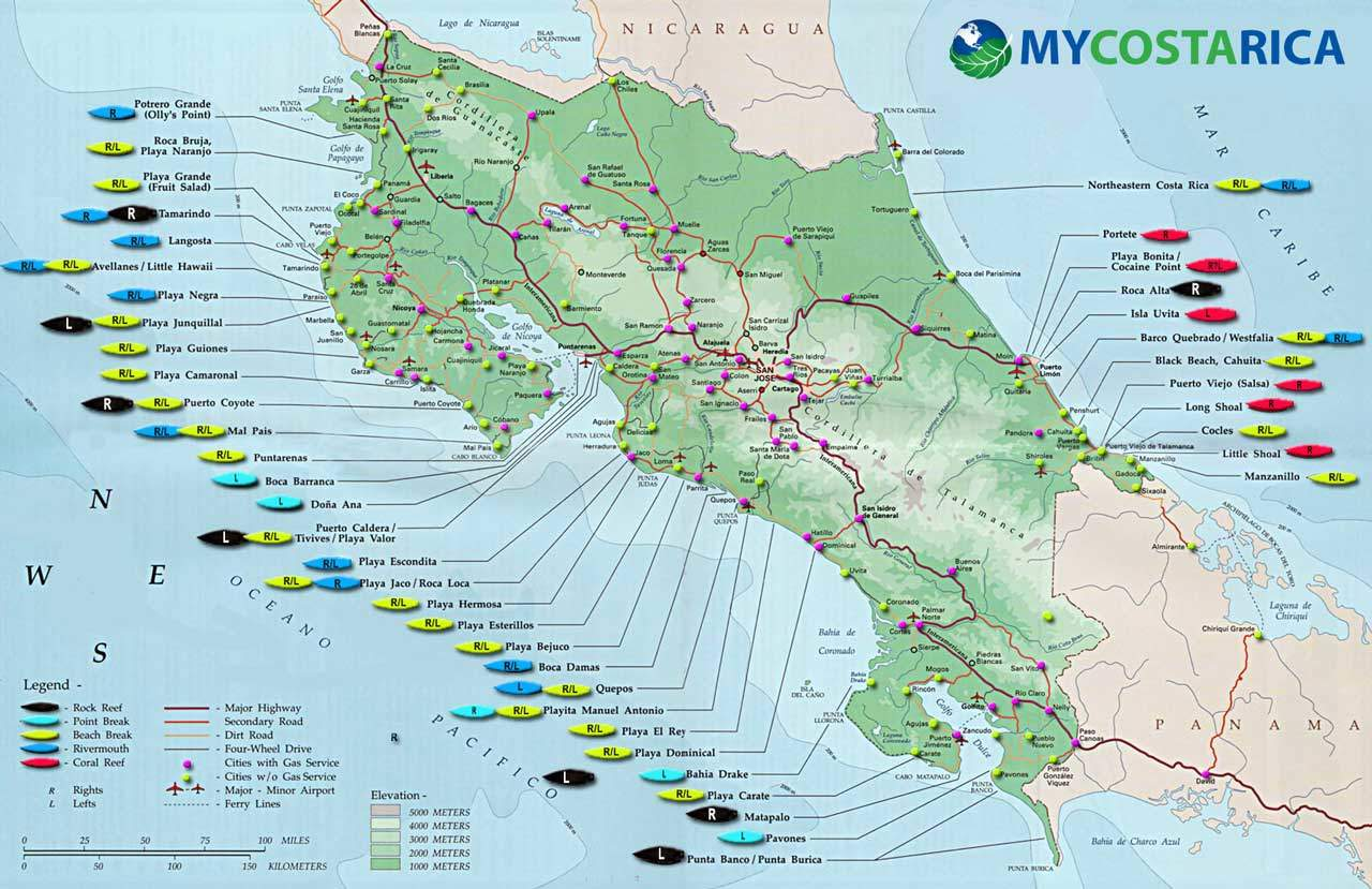 Maps of Costa Rica Every map you need to plan your trip to Costa Rica