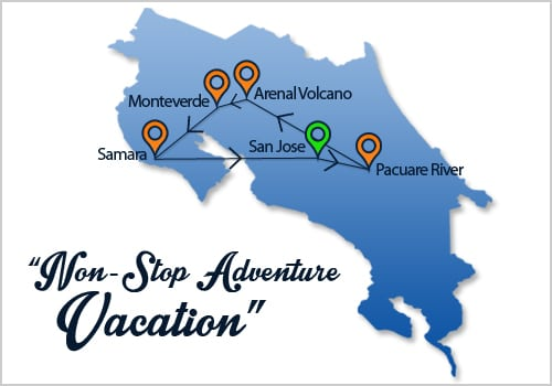 Non Stop Adventure Vacation Map