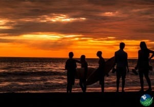Playa-Jaco-Surfing-Sunset