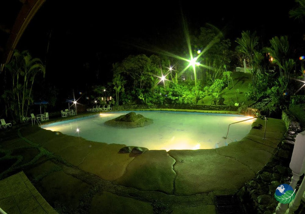 Rancho Rio Perlas Pool By Night
