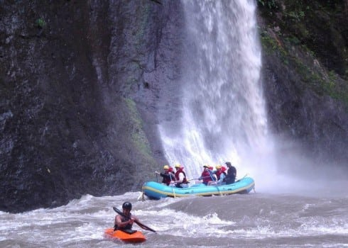 Sarapiqui River Rafting Waterfall