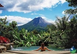 Pool with view of Volcano