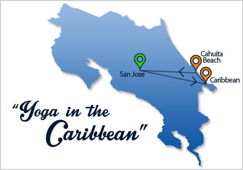Yoga in the Caribbean Map