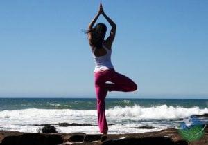 Yoga in the Caribbean Ocean