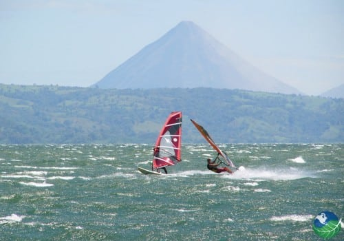 Windsurfing in Arenal Lake