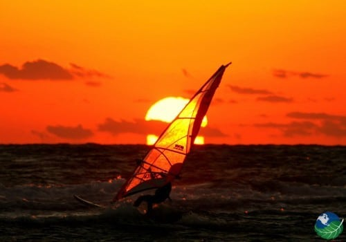 windsurfing in costa rica Sunset