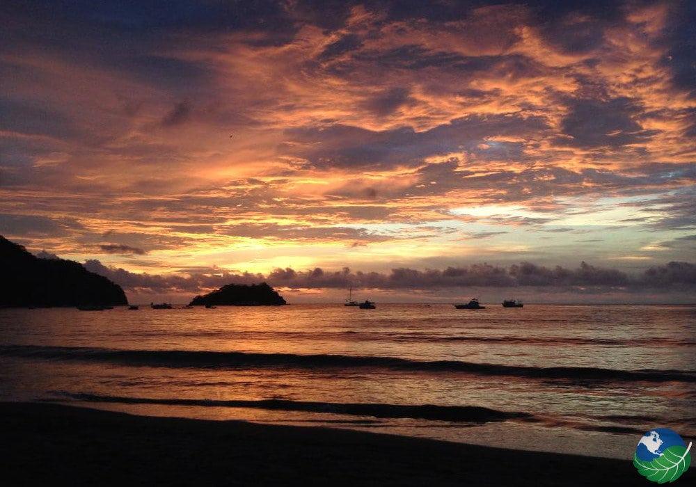 Playas Del Coco Beach In Gulf Of Papagayo Costa Rica