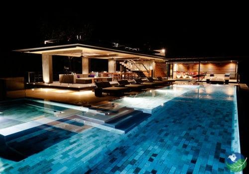 Kura Design Villas at Night