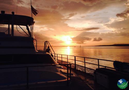 Isla Tortuga Sun setting