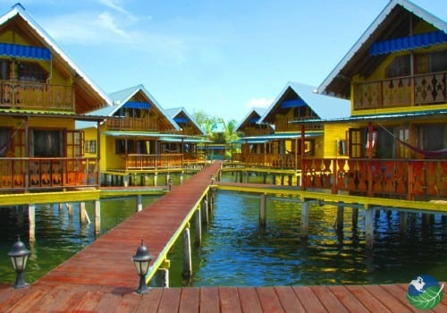 Docks leading to the Cabins
