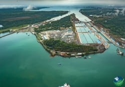 Panama Canal Aerial View