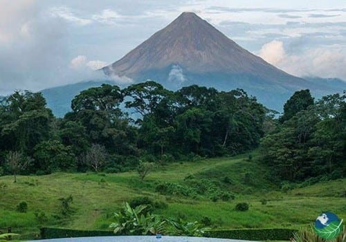 arenal and trees