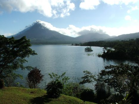 Lake Arenal Windsurfing Volcano View