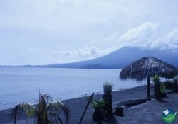 Lake Nicaragua Volcano in the Distance