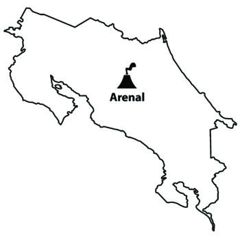 Arenal Volcano Map