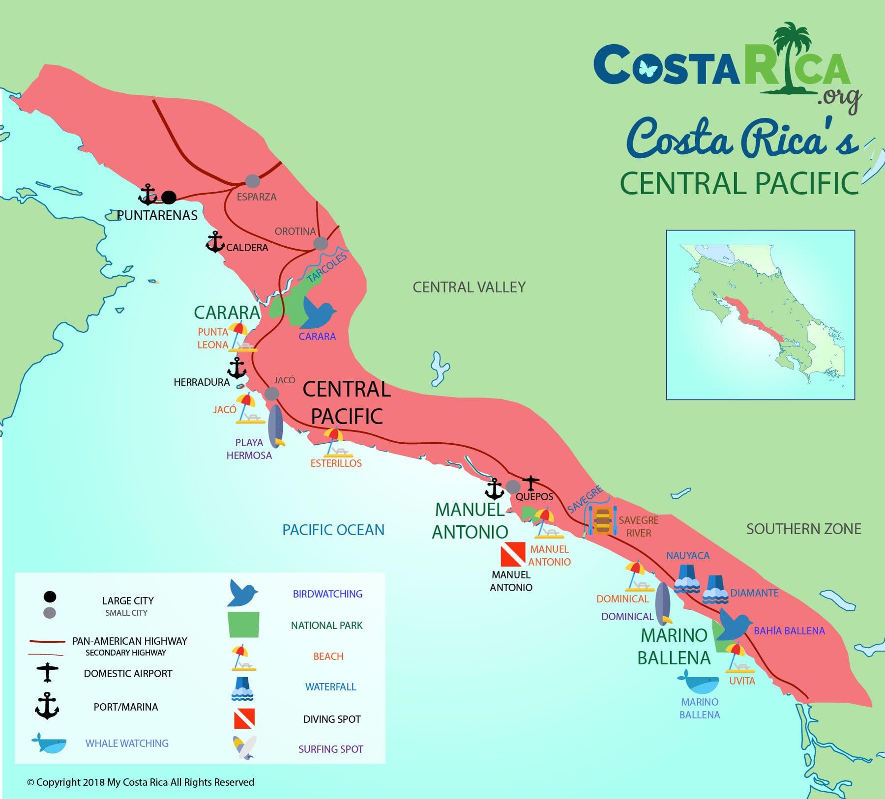 karten von costa rica - alle karten, die sie für ihren