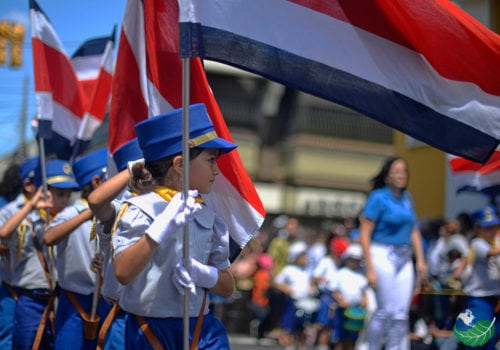 Independance day in Costa Rica