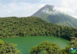The Chato Volcano lagoon