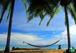 Relaxing hammock at Punta Uva