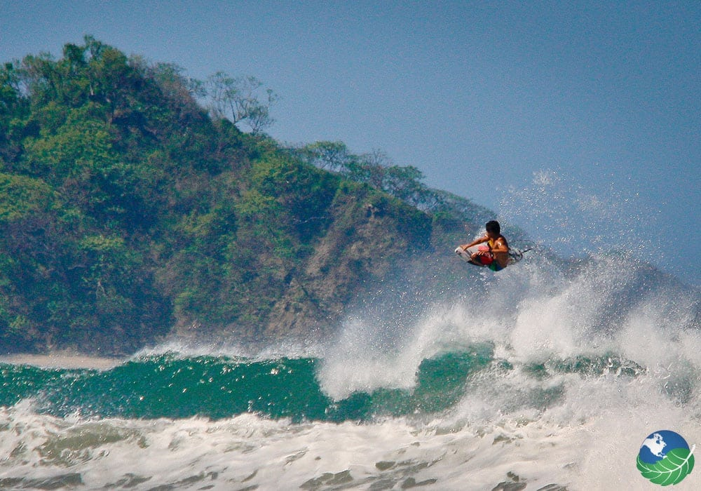 Surfing in Nosara